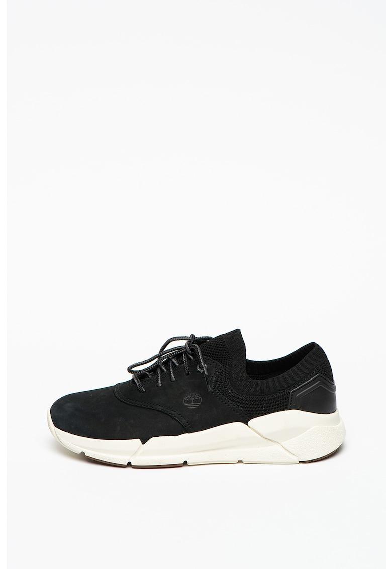 Pantofi sport de piele nabuc si material textil Urban Move