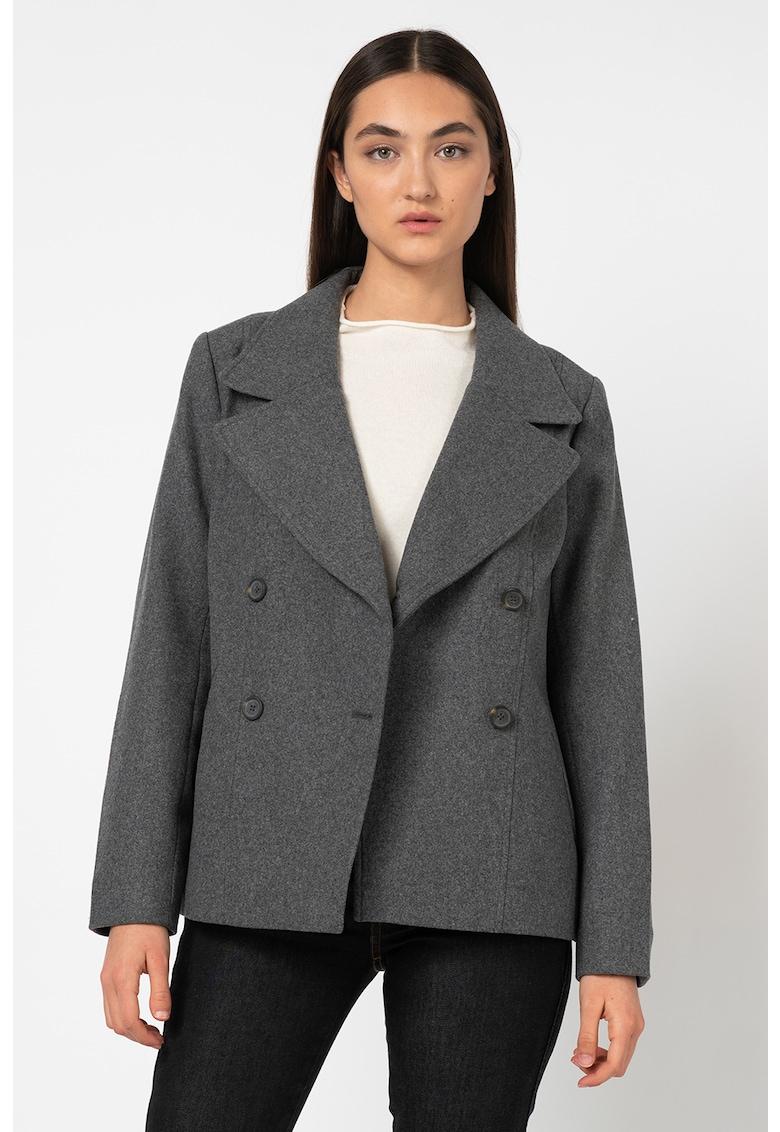 Timberland Haina scurta din amestec de lana - cu doua randuri de nasturi