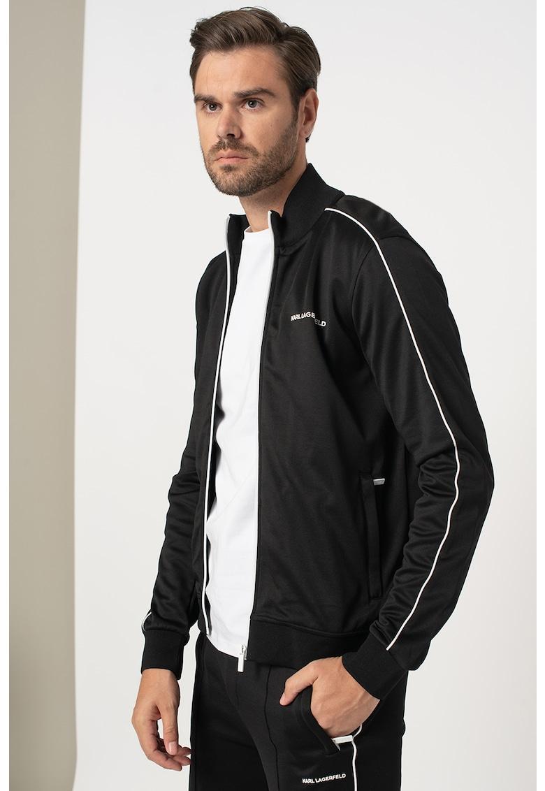 Jacheta de trening cu garnituri contrastante