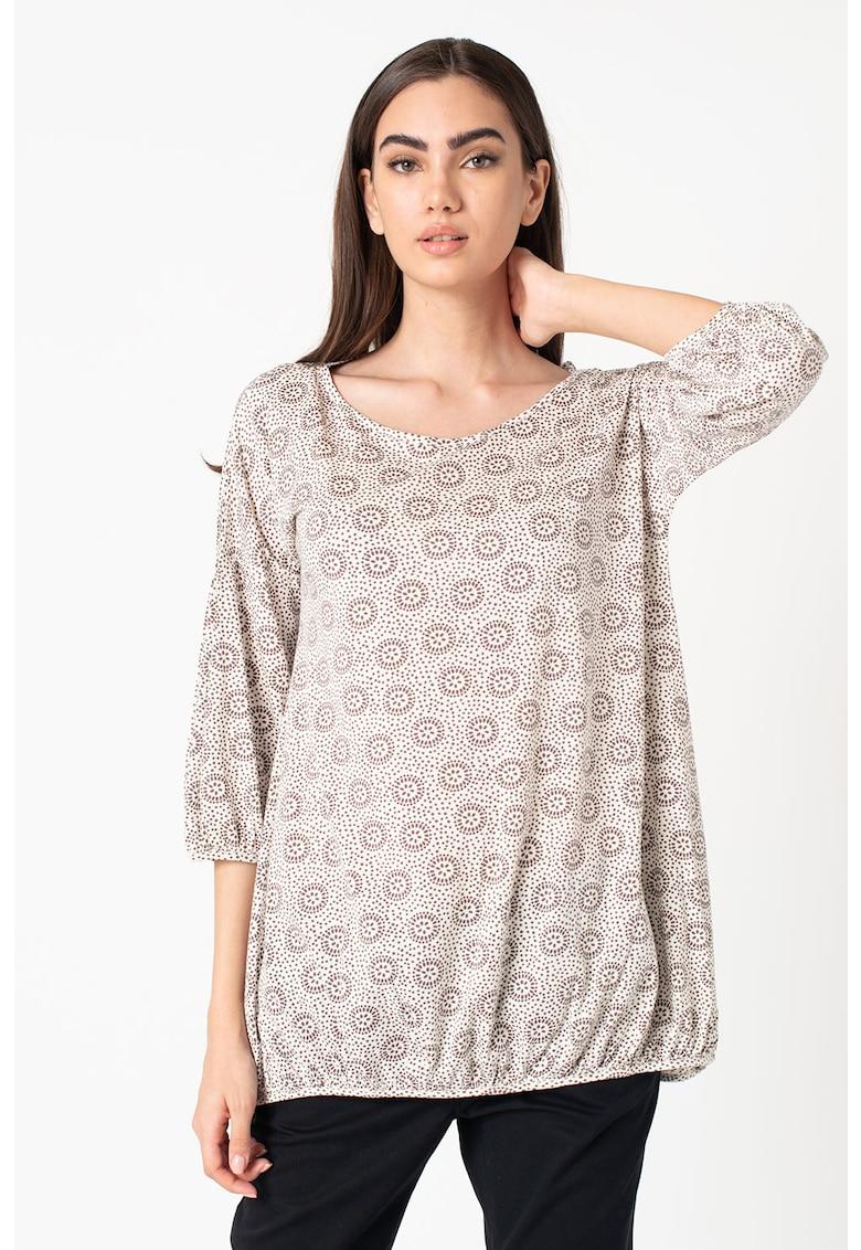 Bluza din amestec de lana alpaca cu imprimeu imagine
