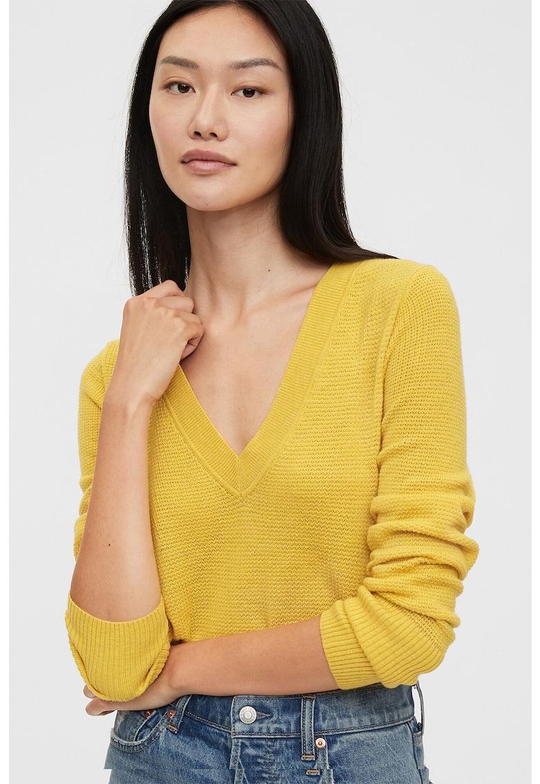 Pulover tricotat fin - din amestec de lana