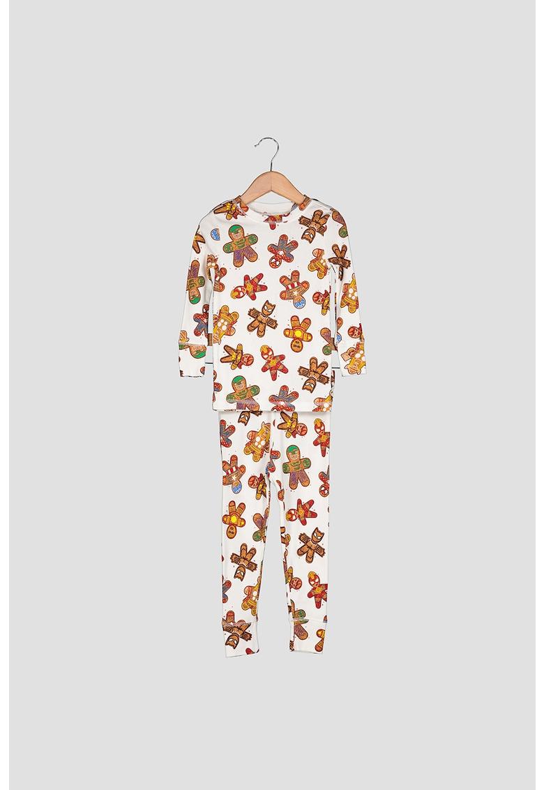 Pijama cu imprimeu si maneci lungi fashiondays.ro