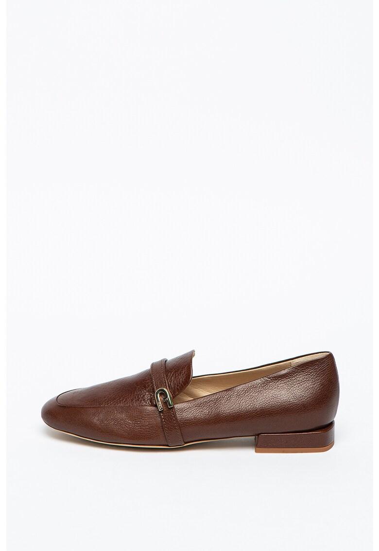 Pantofi loafer cu bareta logo