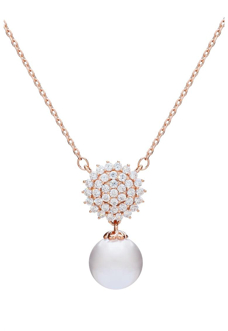 U.S. Polo Assn - Colier decorat cu zirconia si perla sintetica imagine