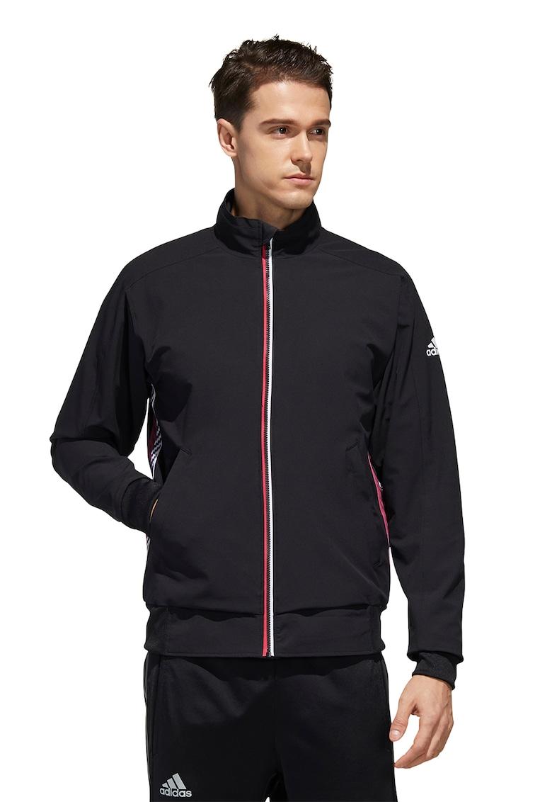 Bluza sport cu fermoar si logo imagine fashiondays.ro