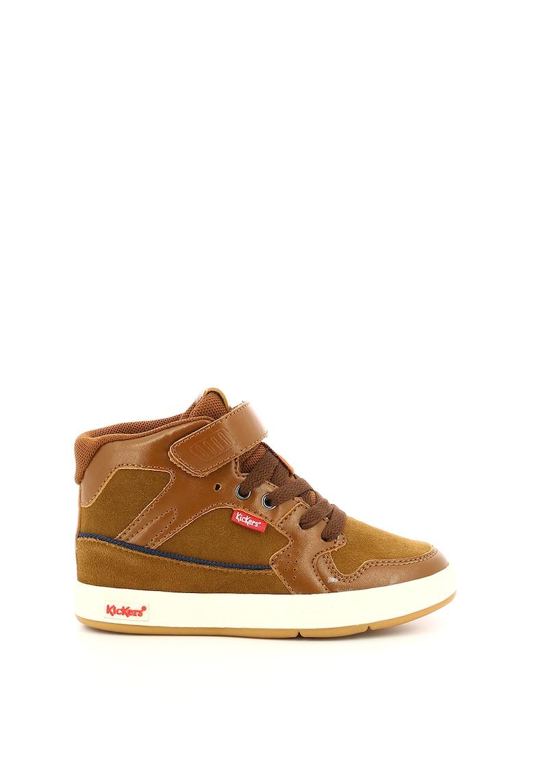 Pantofi sport mid-high din piele intoarsa si piele ecologica Gready