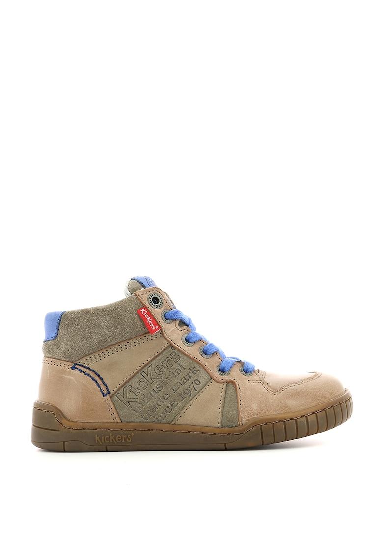 Pantofi sport mid-high din piele si piele intoarsa imagine