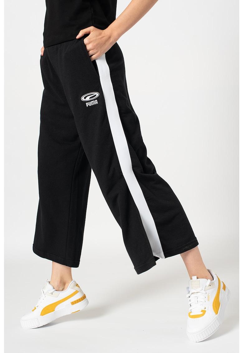 Pantaloni sport culotte crop cu slituri laterale OG