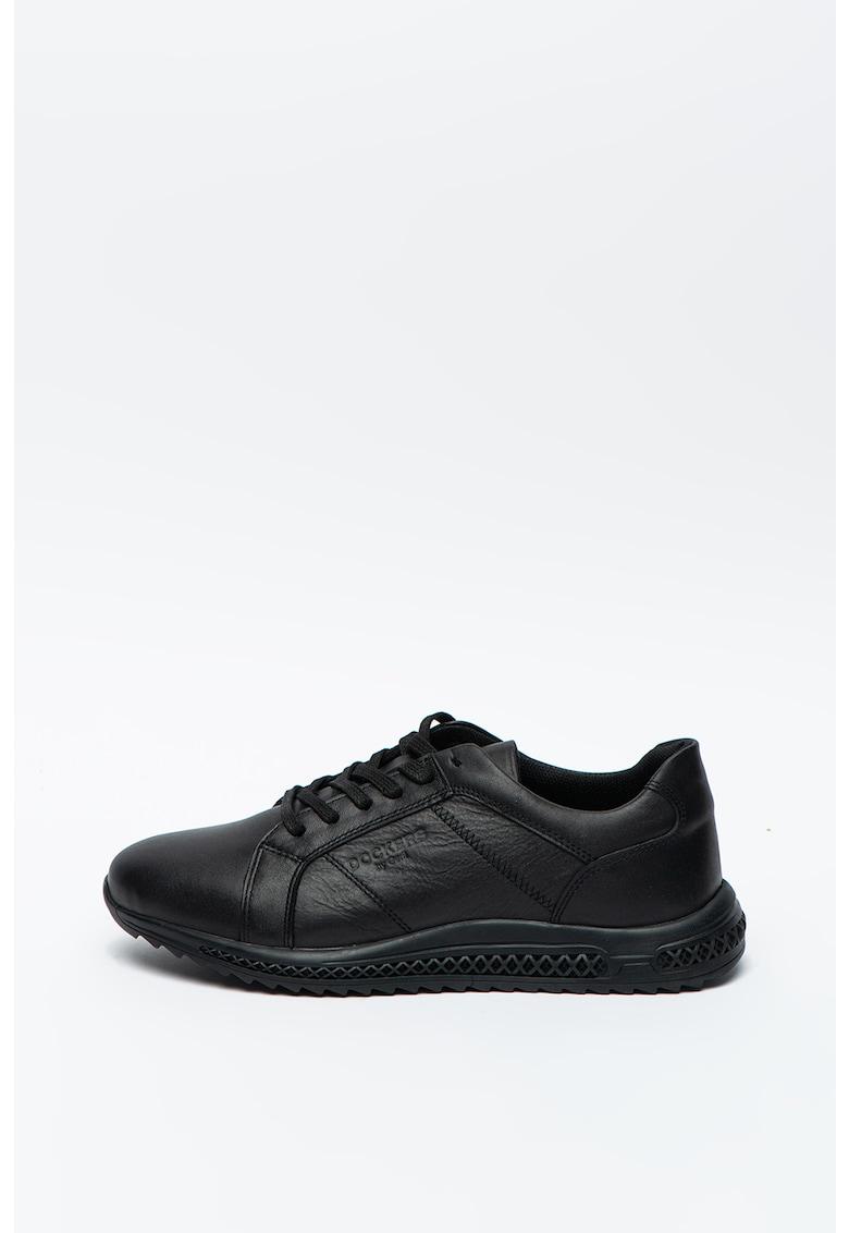 Pantofi sport de piele cu logo stantat