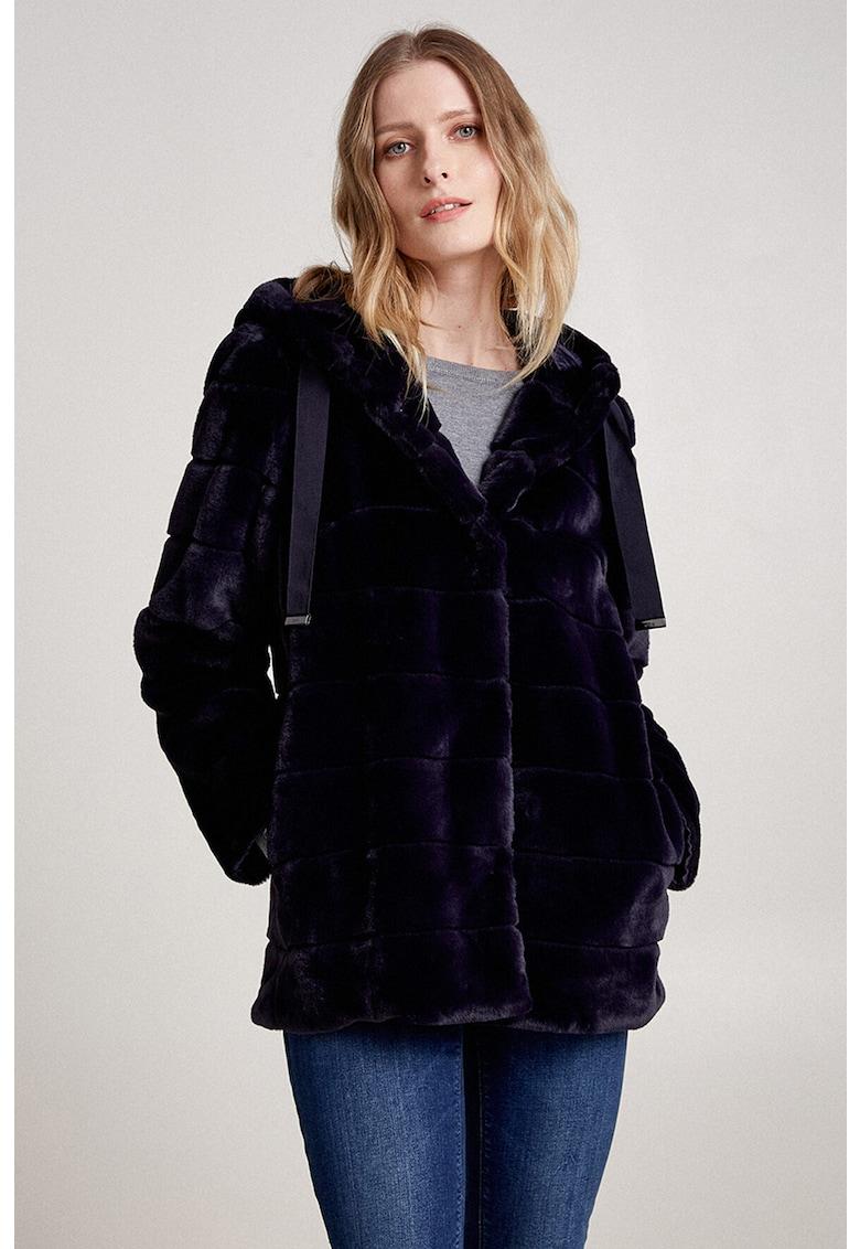 Jacheta de blana sintetica cu gluga imagine promotie