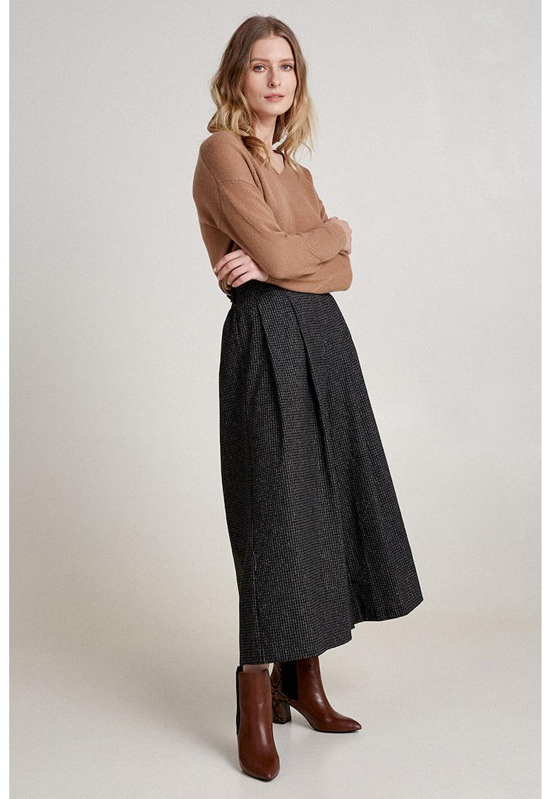 Pantaloni din amestec de lana cu croiala ampla imagine promotie