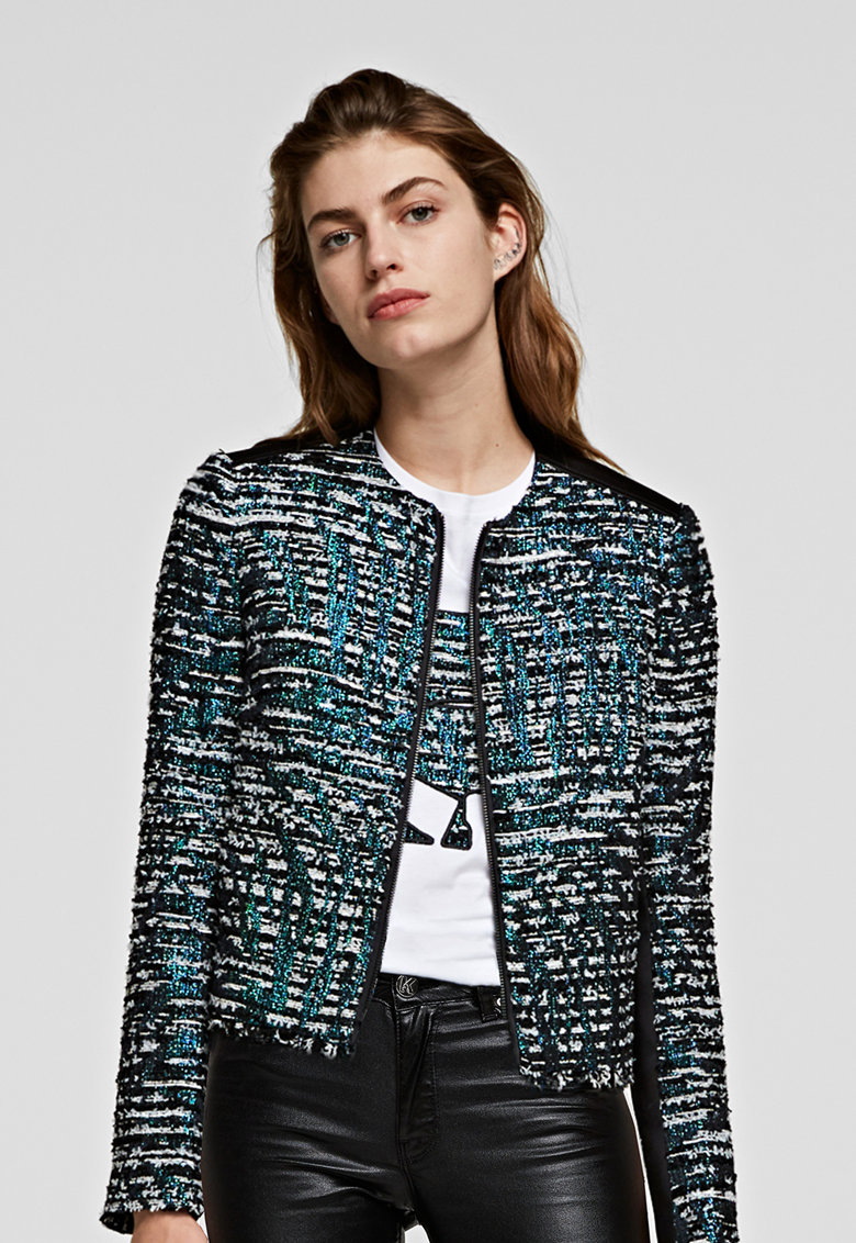 Jacheta cu insertii stralucitoare