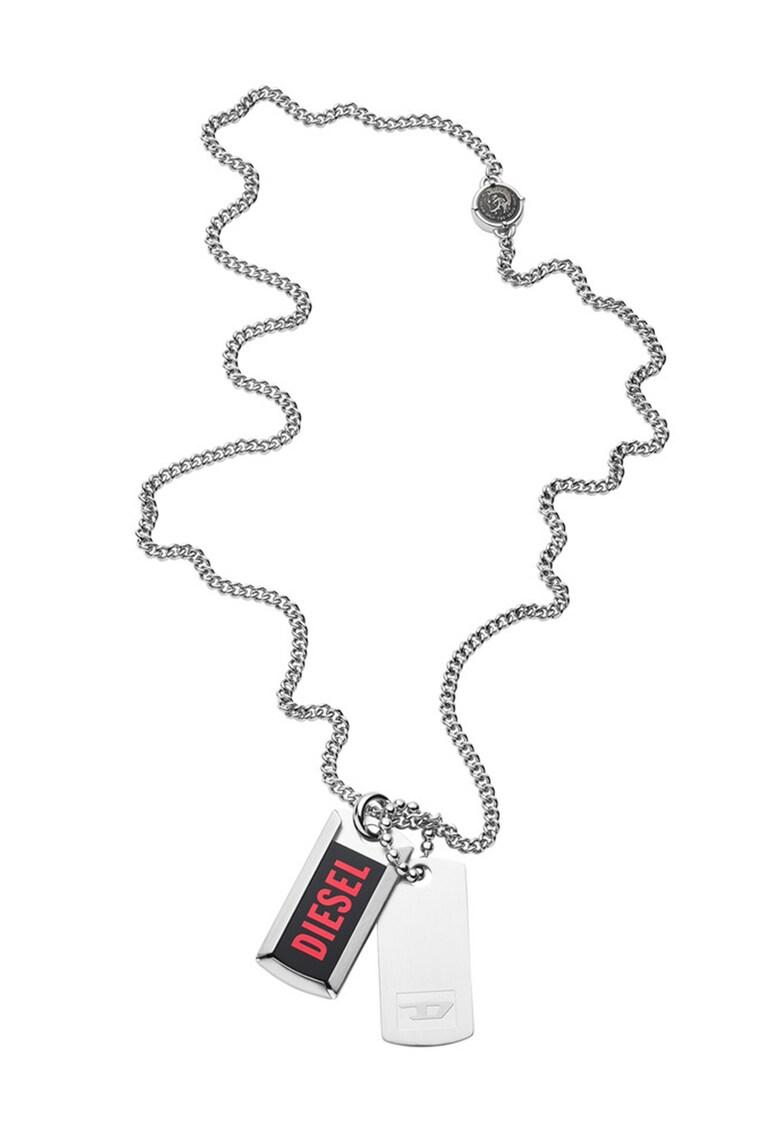 Colier de otel inoxidabil cu pandantive logo imagine