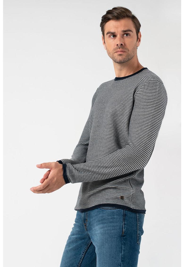 Pulover din amestec de lana - in dungi Emil imagine