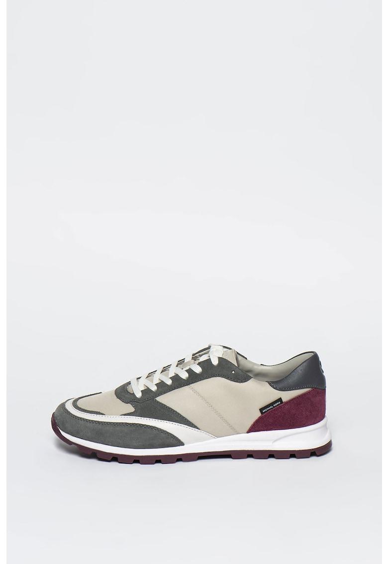 Pantofi sport de piele intoarsa si material textil Liam Michael Kors fashiondays.ro