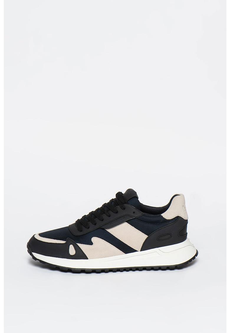 Pantofi sport cu insertii de piele Miles