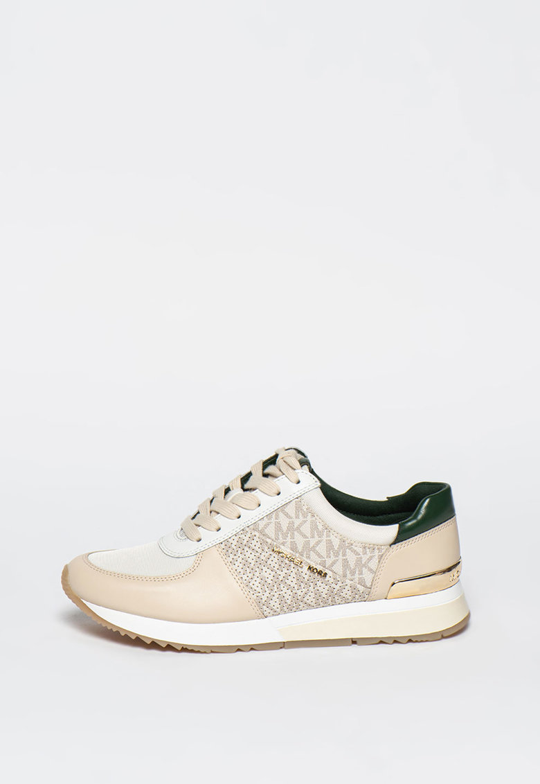 Pantofi sport de piele cu model logo Allie poza fashiondays