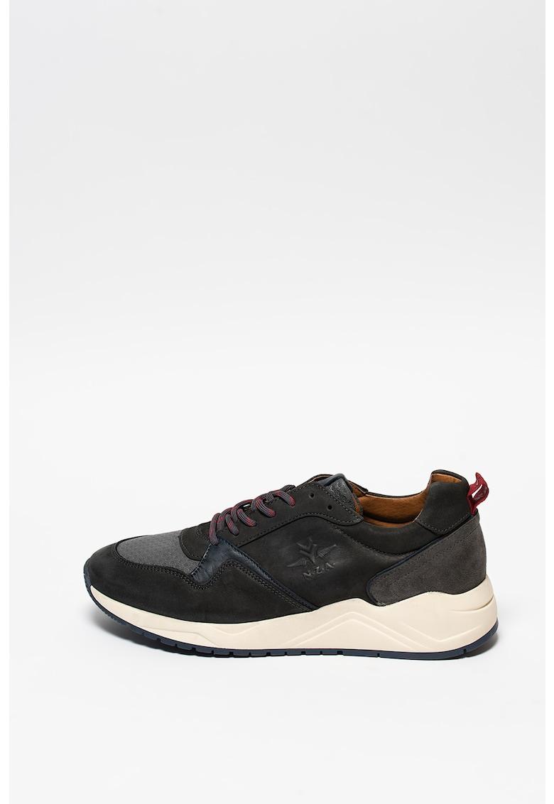 Pantofi sport din piele si piele nabuc Balfour