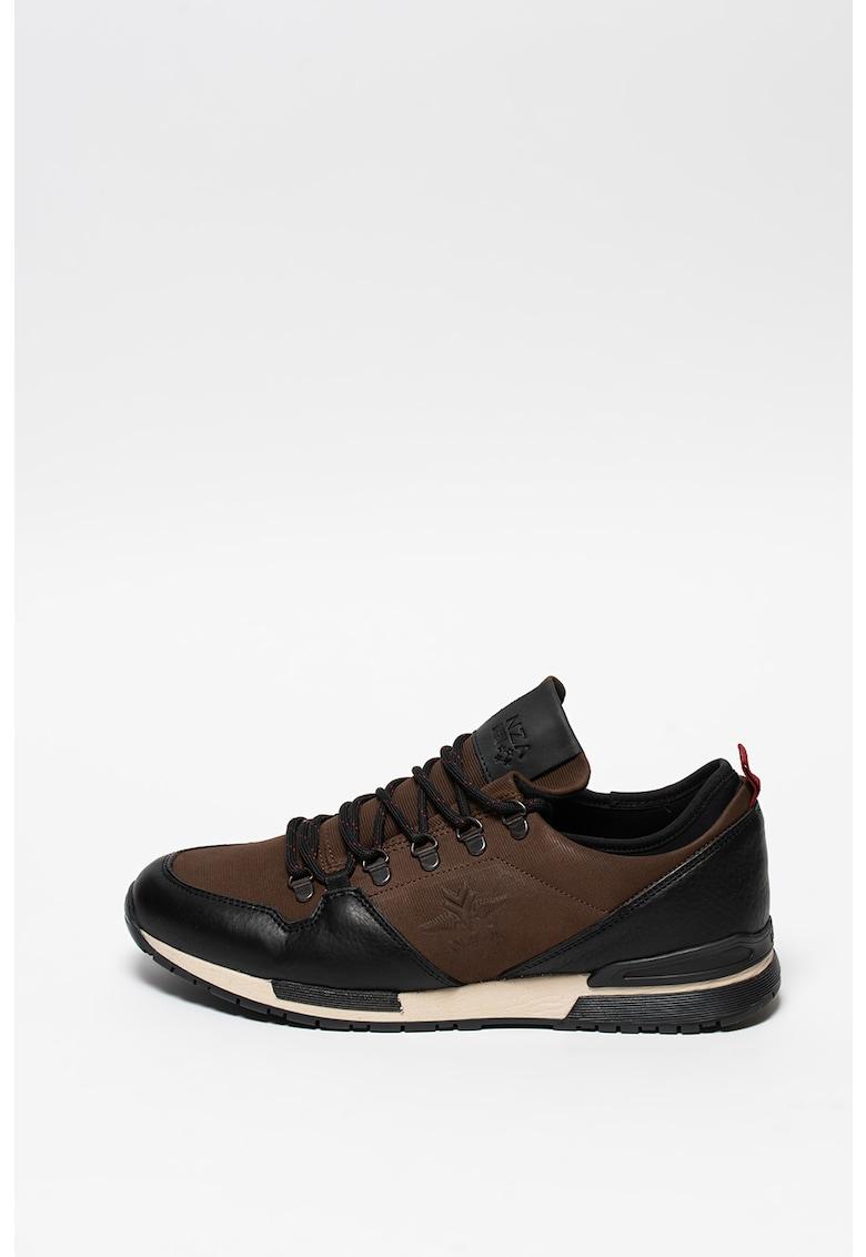 Pantofi sport cu insertii din piele Cheviot