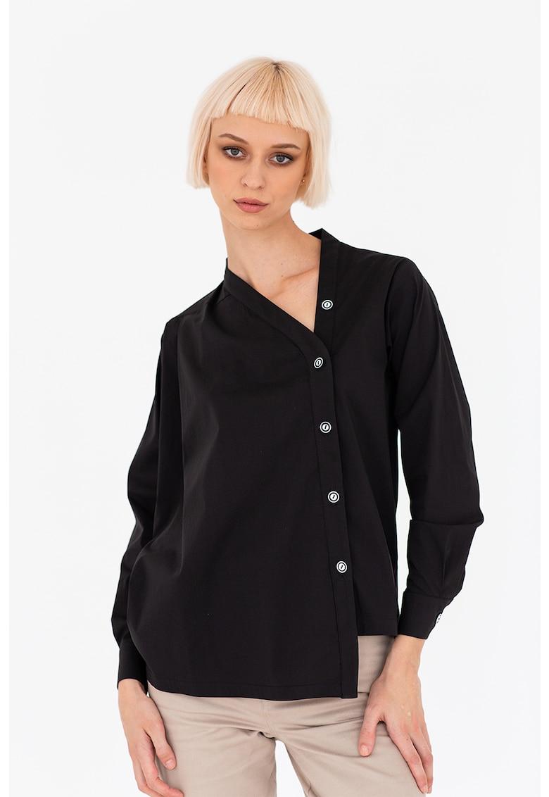 Camasa cu model asimetric poza fashiondays