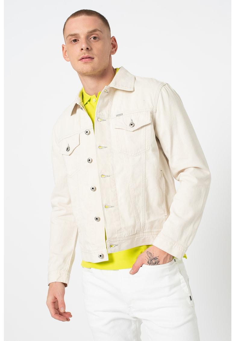 Jacheta de denim cu maneci lungi