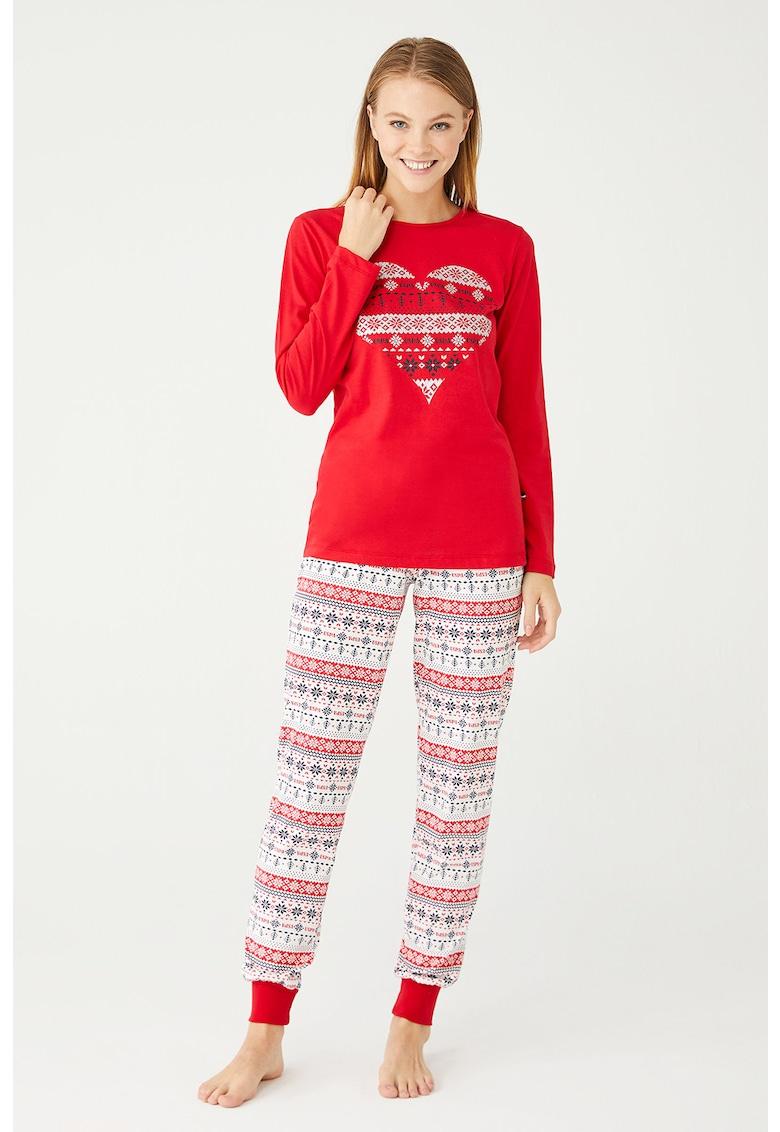 Pijama cu model fair isle fashiondays.ro