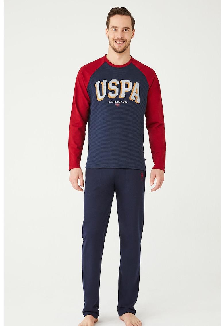 Pijama cu maneci raglan U.S.-Polo-Assn. imagine 2021
