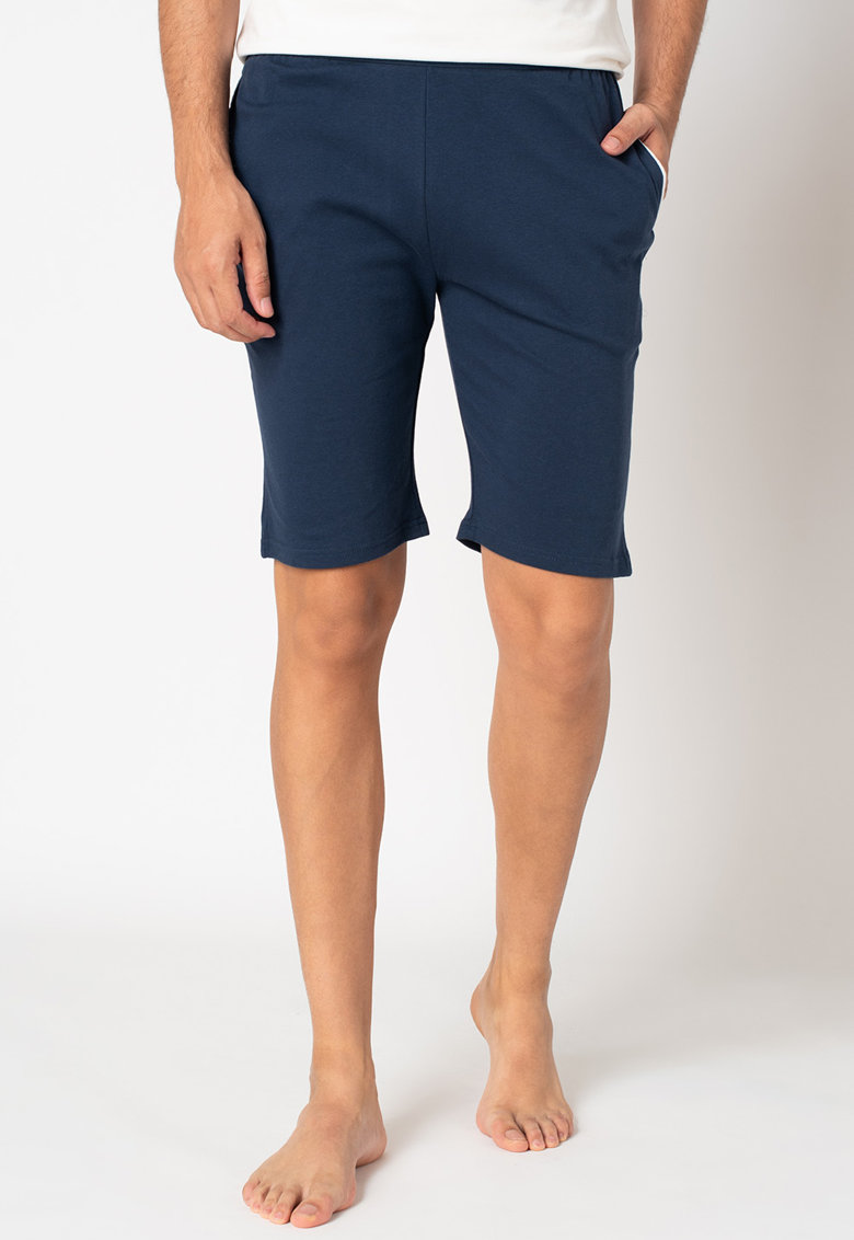 Pantaloni scurti de casa cu banda elastica cu logo