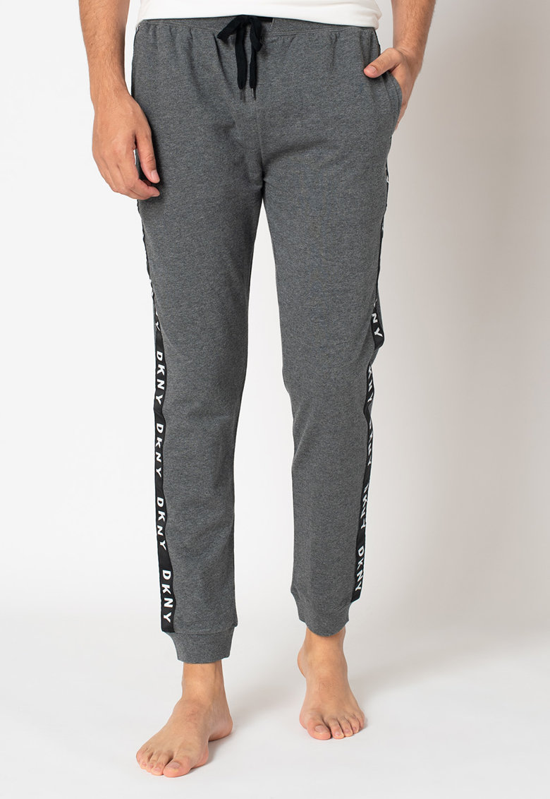 Pantaloni sport de casa cu benzi laterale cu logo imagine promotie