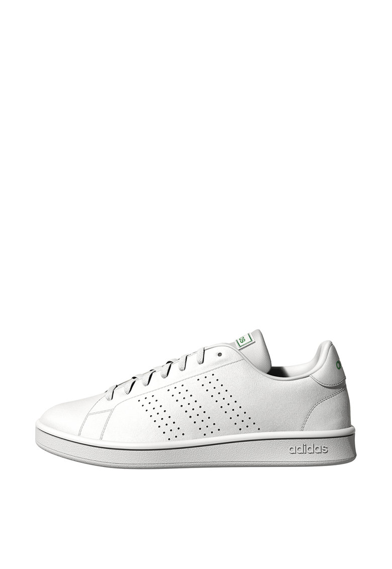 Pantofi sport de piele ecologica cu detalii perforate Advantage Base