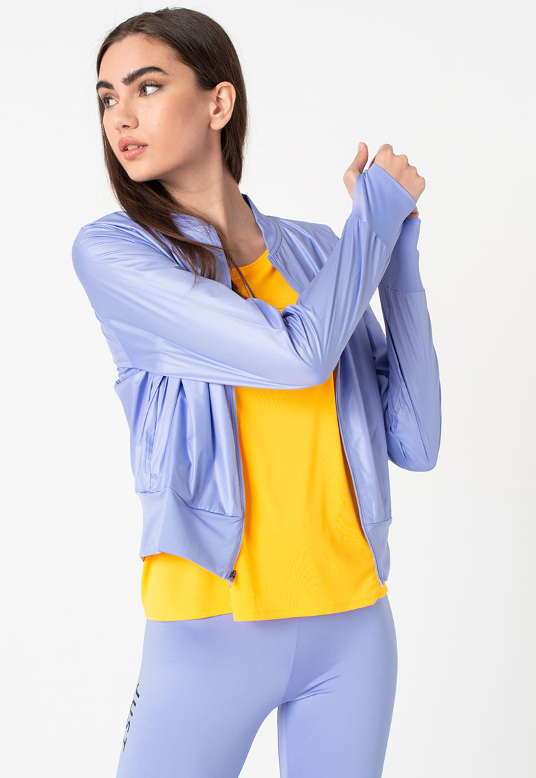 Jacheta cu fermoar si imprimeu logo - pentru alergare Nike imagine 2021