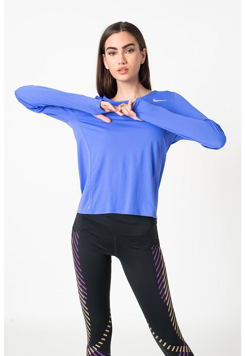Bluza cu slituri pentru degete - pentru alergare City Sleek imagine