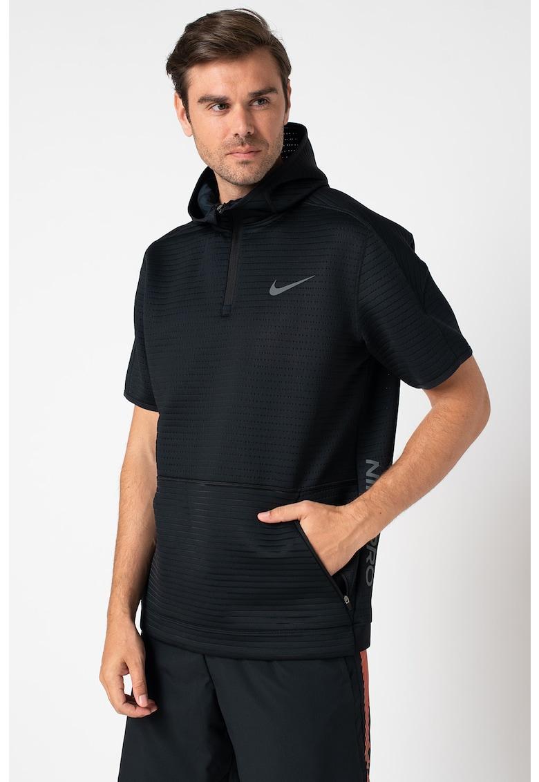 Tricou cu gluga si tehnologie Dri-Fit - pentru fitness imagine