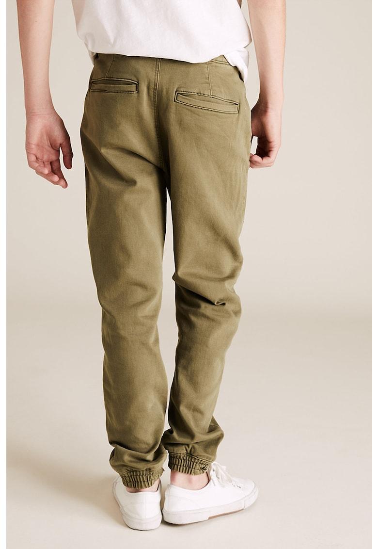 Pantaloni regular fit cu snur de ajustare imagine promotie