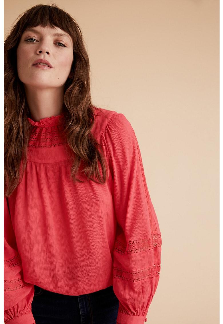 Bluza din amestec de modal cu garnituri din dantela crosetata imagine promotie