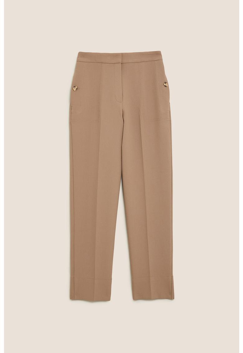 Pantaloni cu croiala dreapta si talie inalta Evie