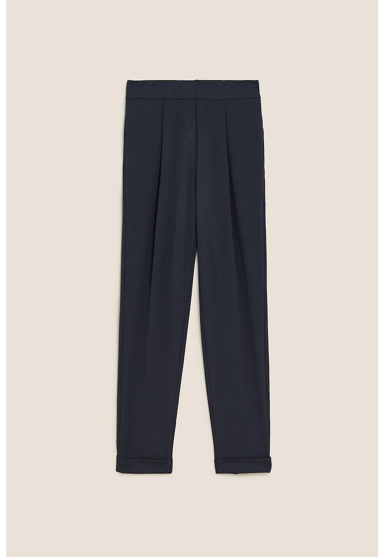 Pantaloni cu pliuri inversate