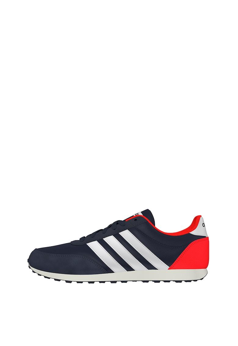 Pantofi sport de piele intoarsa ecologica cu insertii de plasa Racer