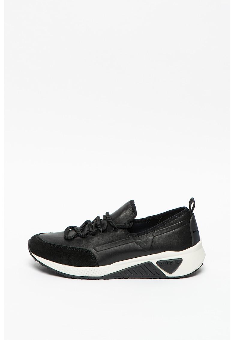 Pantofi sport slip-on de piele cu insertii de piele intoarsa Kby