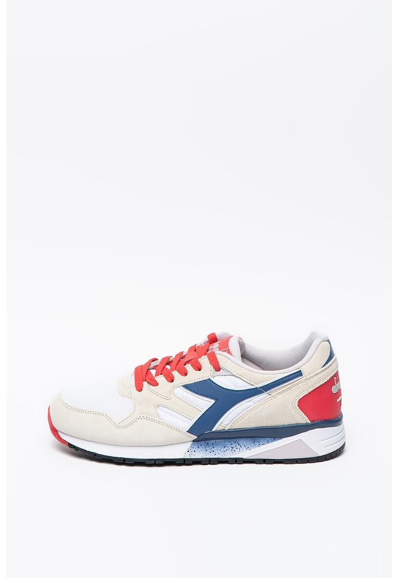 Pantofi sport cu insertii de piele intoarsa N9002