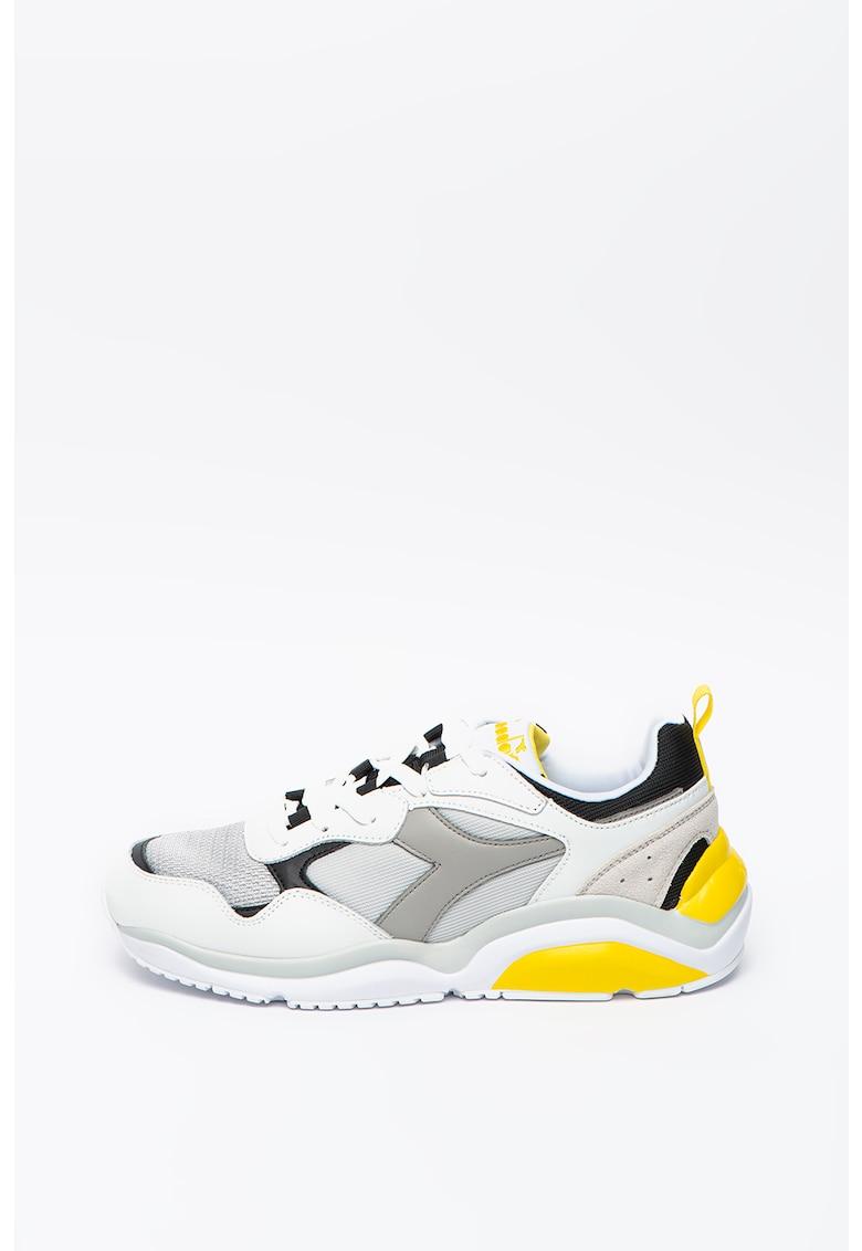 Pantofi sport cu detalii din piele Whizz Run
