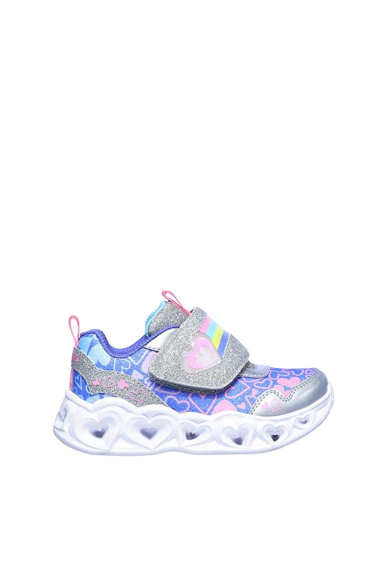 Pantofi sport cu velcro si LED-uri Heart Lights