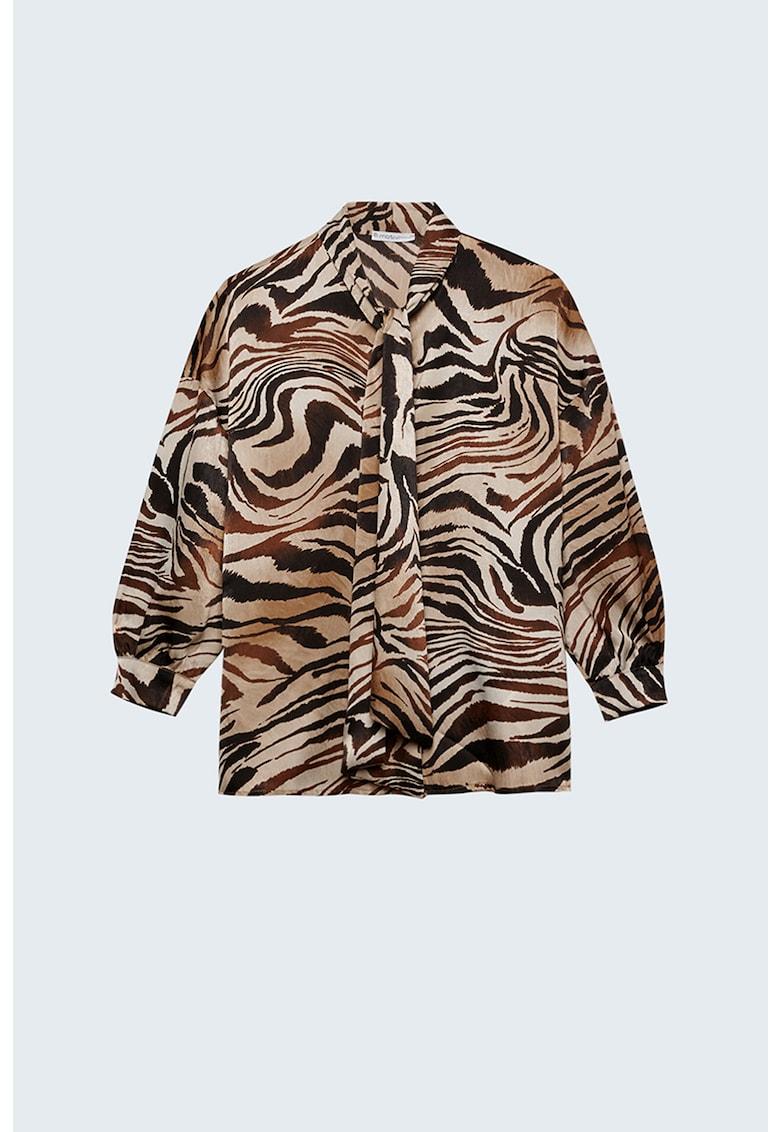 Bluza cu imprimeu zebra imagine