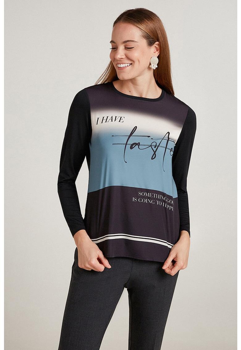 Bluza cu imprimeu text imagine promotie