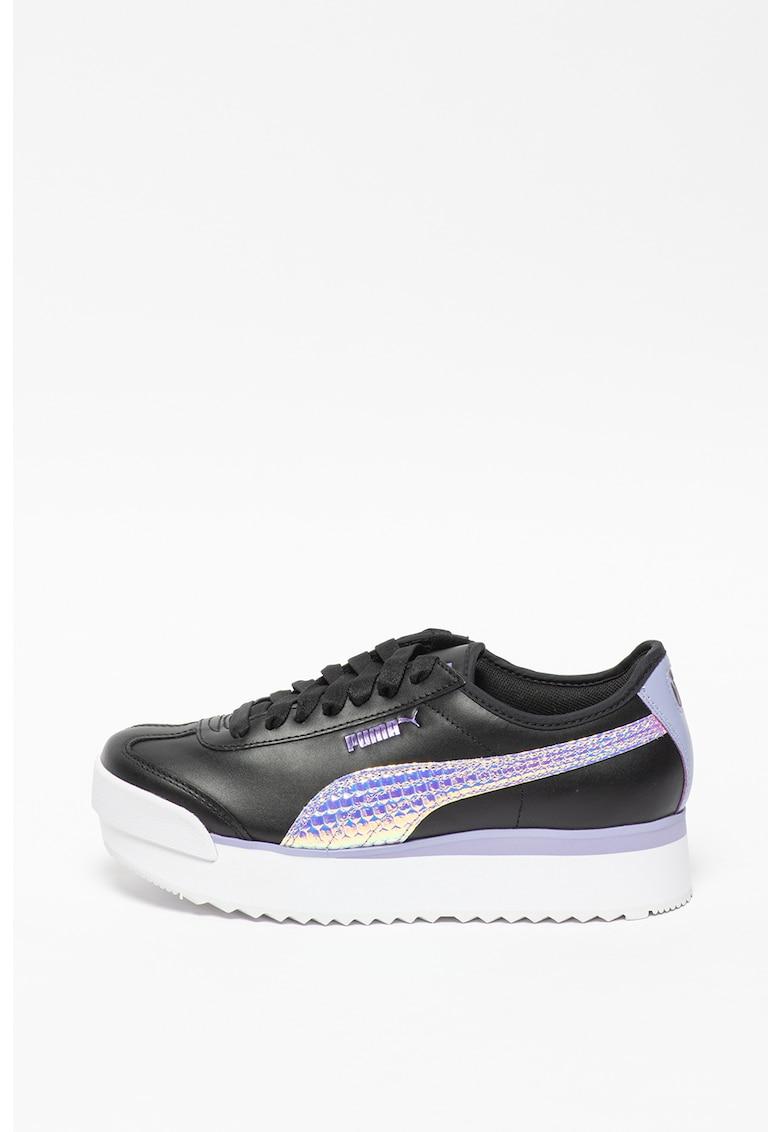 Pantofi sport flatform de piele cu garnituri irizate Roma Amor