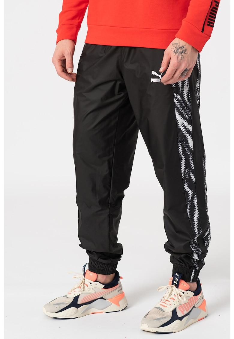 Pantaloni sport cu benzi laterale cu imprimeu Wild Pack
