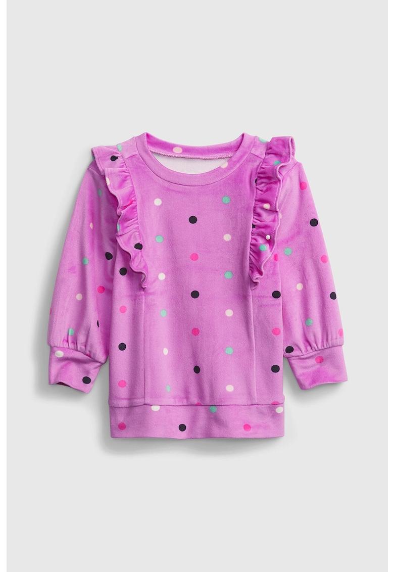 Bluza sport de catifea cu buline imagine