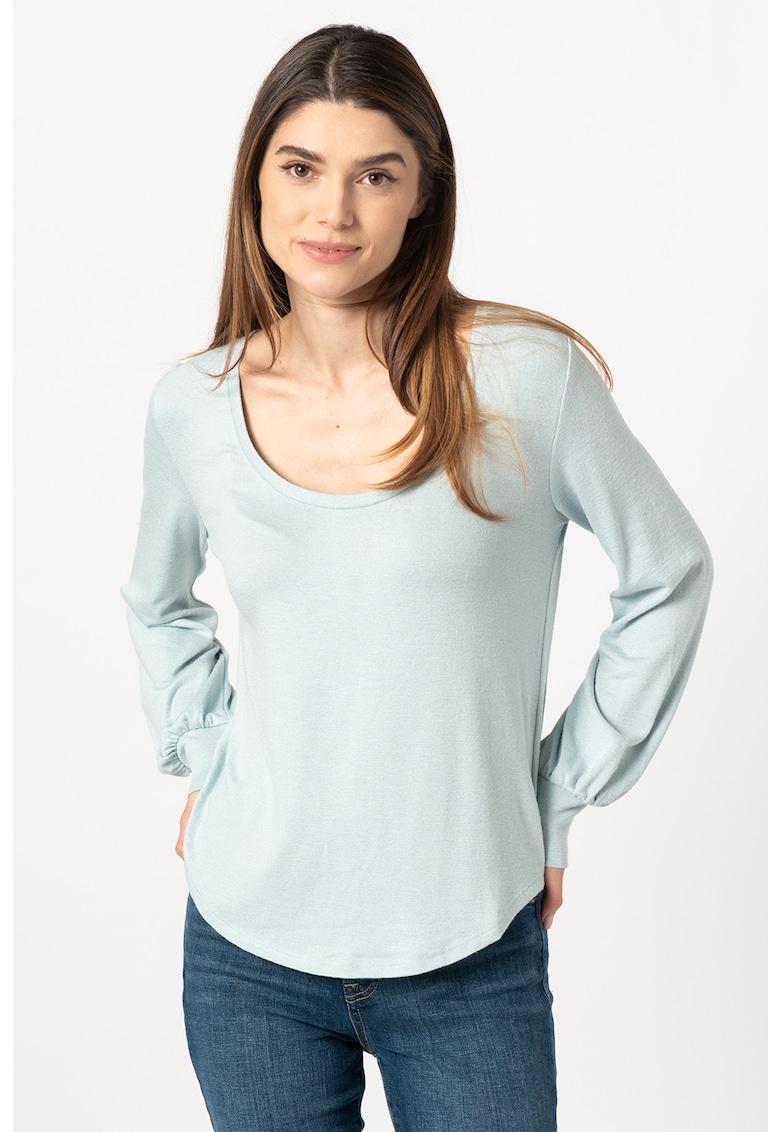 Bluza de jerseu cu decolteu rotund imagine