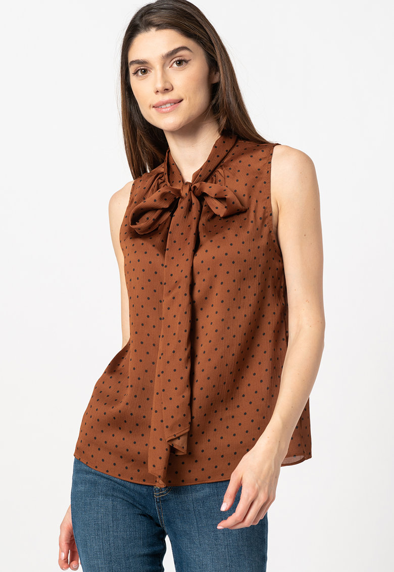 Bluza fara maneci - cu funda din panglici imagine