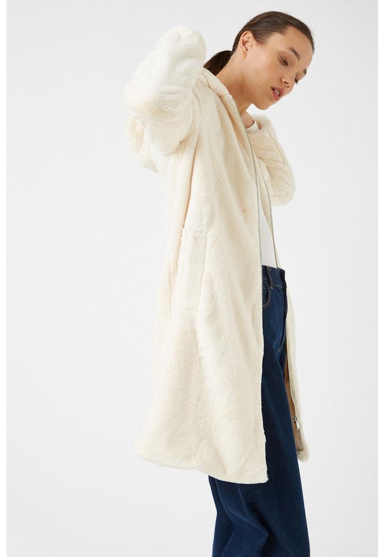 Jacheta de blana sintetica - cu gluga imagine